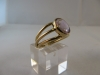 Ring: goud ametist - 2