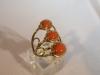 Ring: goud bloedkoraal - 1