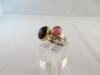 Ring: zilver goud enstatiet toermalijn - 3