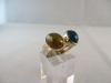 Ring: zilver goud opaalkwarts apetiet - 6