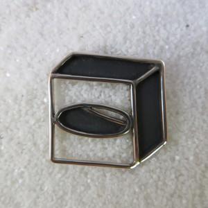 Hanger zilveren kubus