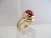 Ring: geelgoud robijn strak - 2