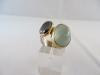 Ring: zilver goud aquamarijn hematiet - 2
