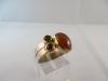 Ring: zilver goud granaat citrien - 4