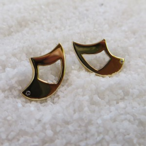 Gouden Oorstekers Diamantje