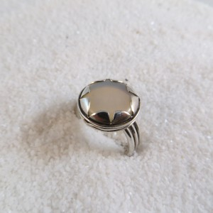 Ring Zilver Witte Kwarts