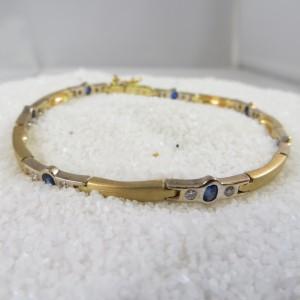 Armband Goud Saffier Diamant